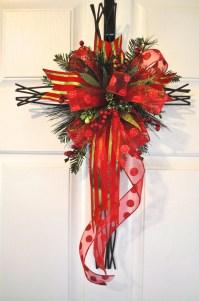 Christmas Front Door Cross Door Hanger Wall Decor by ...