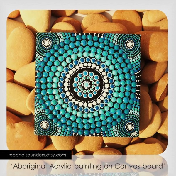 Water Art Dot Painting Aboriginal Small Original
