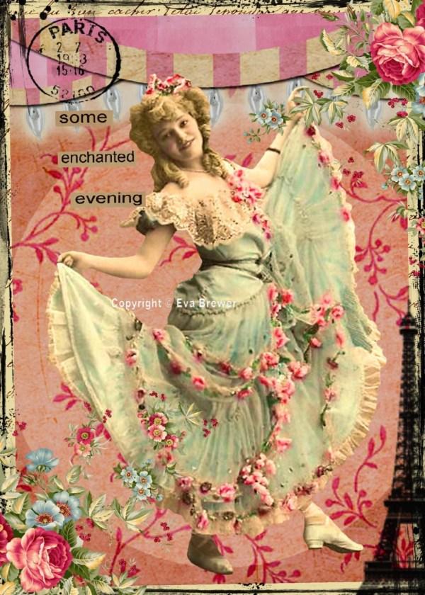 Original Digital Collage Ephemera Altered Art Vintage