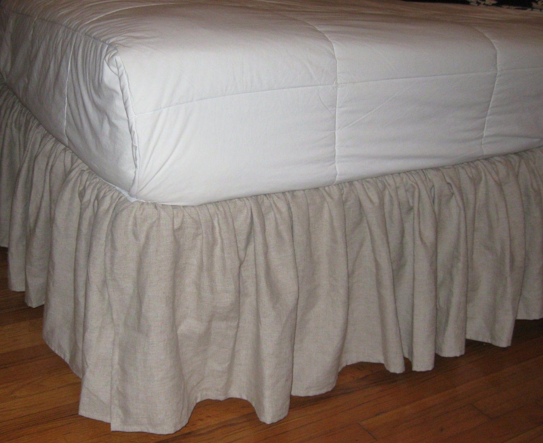 King Size Ruffles Bedskirt In Linen