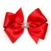 fancy red hair bow special occasion