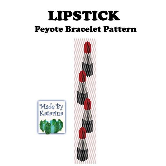 Peyote Pattern Liptstick INSTANT DOWNLOAD PDF Peyote