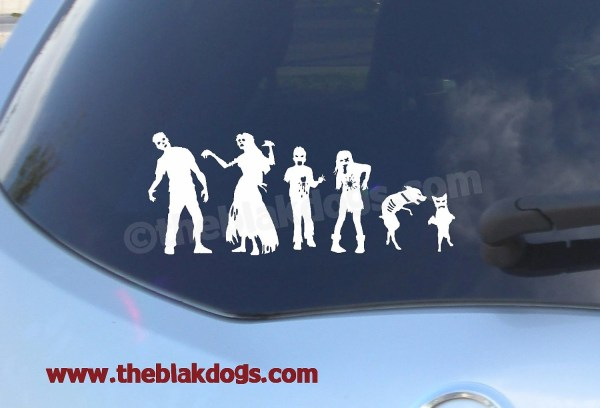 Zombie Stick Figure Family Custom Sticker Vinyl Car