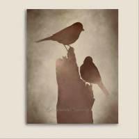 Bird Wall Art Print Brown Decor Earthtone by ...