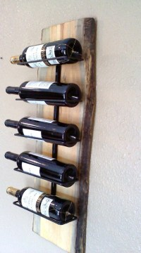 Wall Hanging Wooden Slab Wine Rack by AspenBottleHolders ...