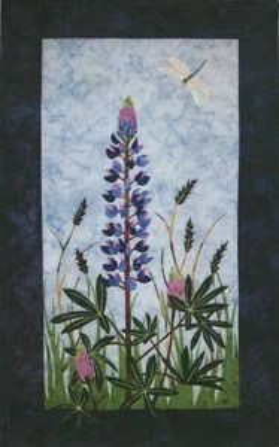 Lupine Wildflower Wildfire Designs Alaska Wallhanging Quilt