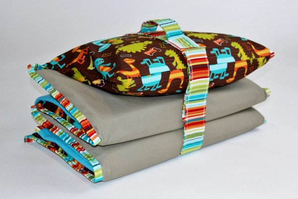 Nap Mat Cover With Blanket Pillowcase Handle And Strap