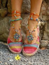 GYPSY summer BAREFOOT SANDALS sole less sandals beach wedding