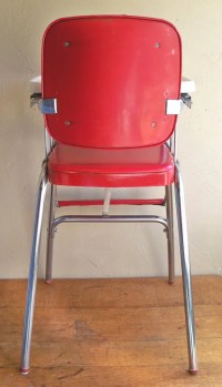 Mid-Century Cosco Baby High Chair Red & Chrome Delight