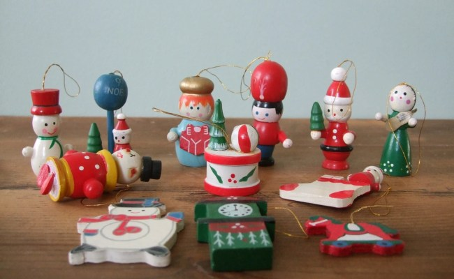 Sale Vintage Wooden Toy Christmas Ornaments