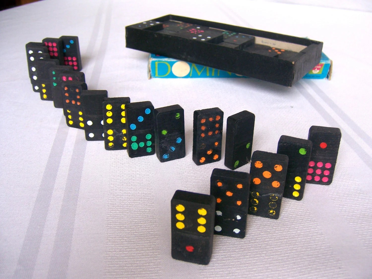 Domino Set Double Nine Color Dot By Whitman By