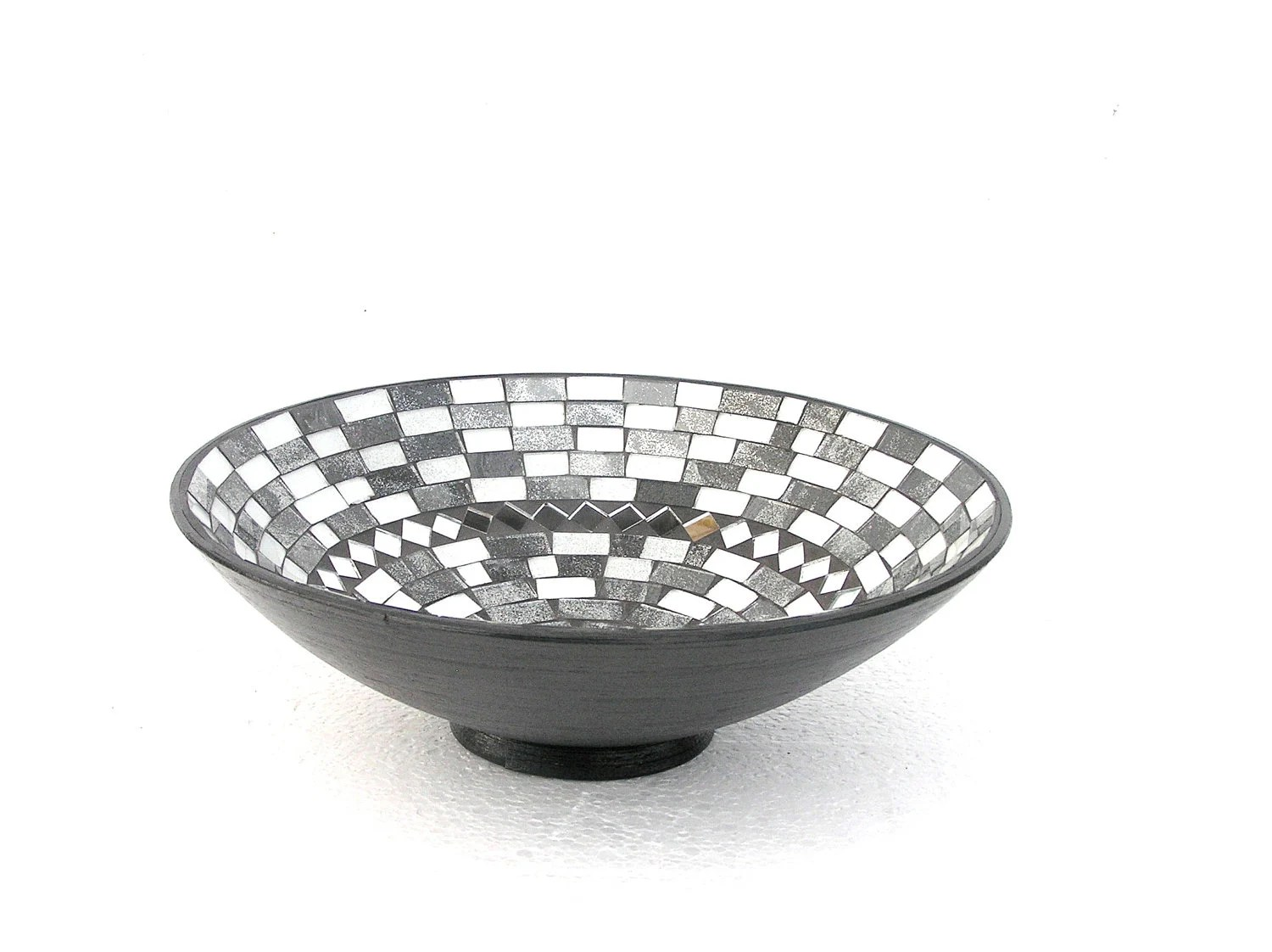 Black and white fruit bowl mosaic modern home decor classical