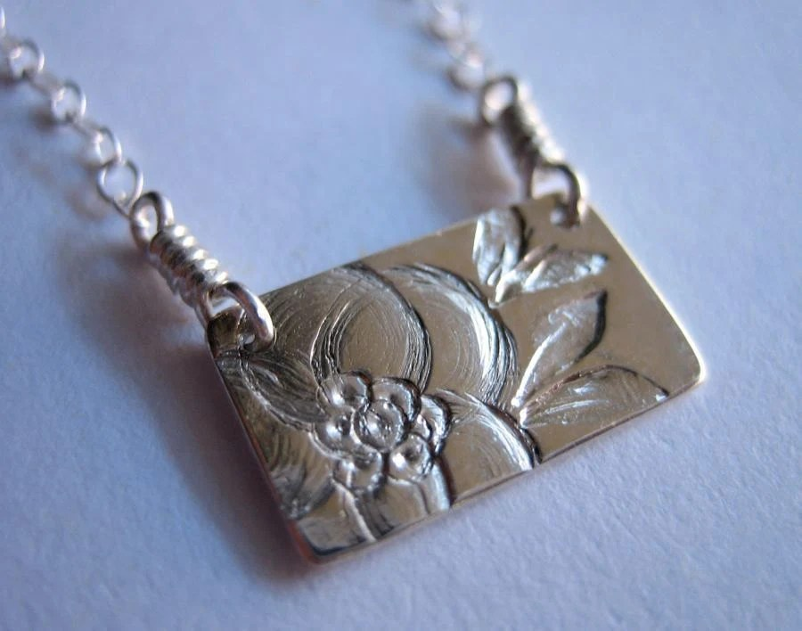Little Magnolia Sterling Silver Necklace - kikisan