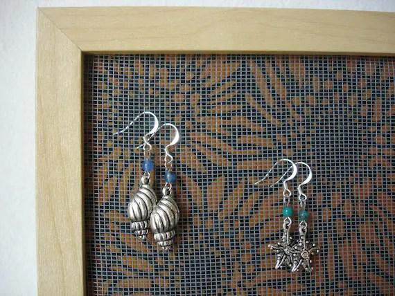 Earring holder earring organizer earring display jewelry