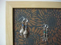 Earring holder earring organizer earring display jewelry