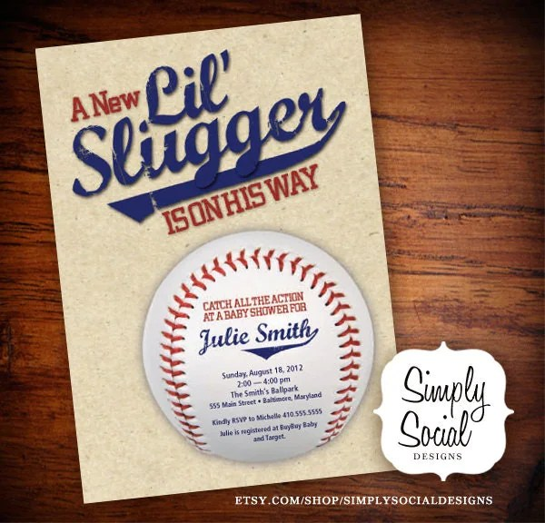 Little Slugger Baseball Theme Baby Shower By