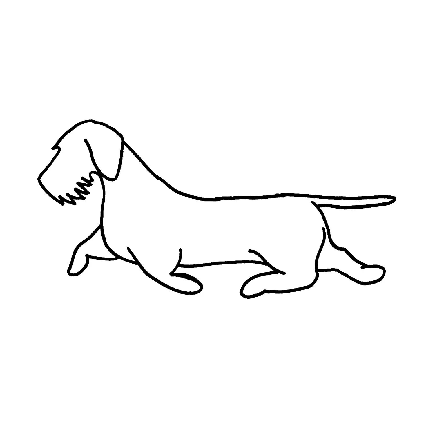 Wirehaired Dachshund wall art 22 wide silhouette dog