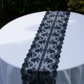 Black lace table runner for your special day