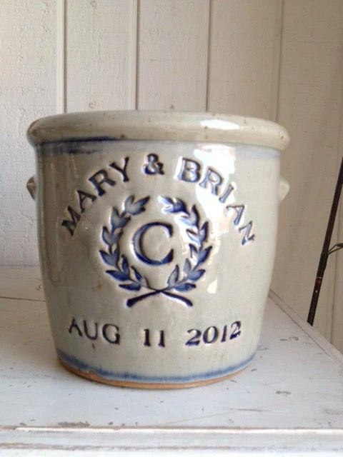 Personalized Stoneware Crock by zotterthepotter on Etsy