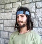 mens hippie headband in organic