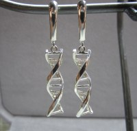 DNA Double Helix Earrings in Sterling Silver by TheresaPytell