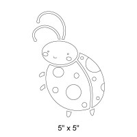 Ladybug Wall Stencil for Painting Girls Room Wall Mural