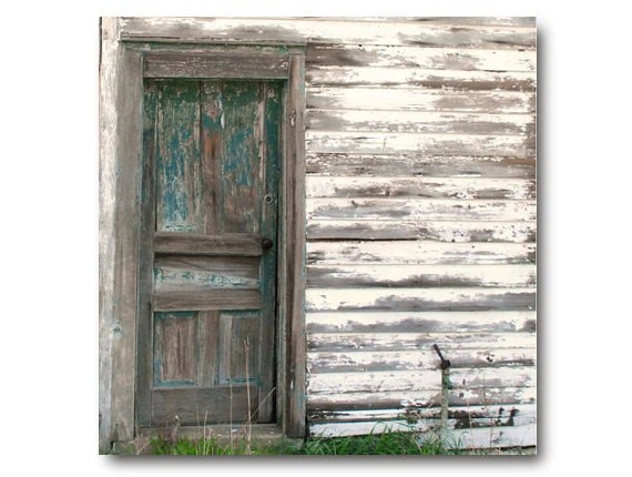 Rustic Farm Photo Vintage Farmhouse Door teal cottage chic