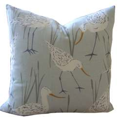 Beach Themed Sofa Pillows Jasper Room And Board Nautical Bird Grey