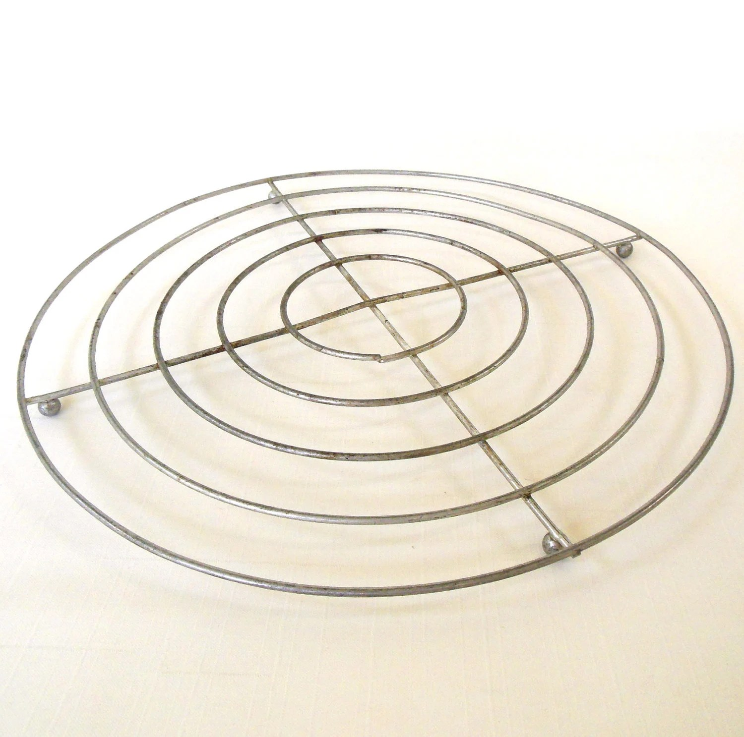Round Wire Rack Canning Trivet Photo Prop 11 Vintage