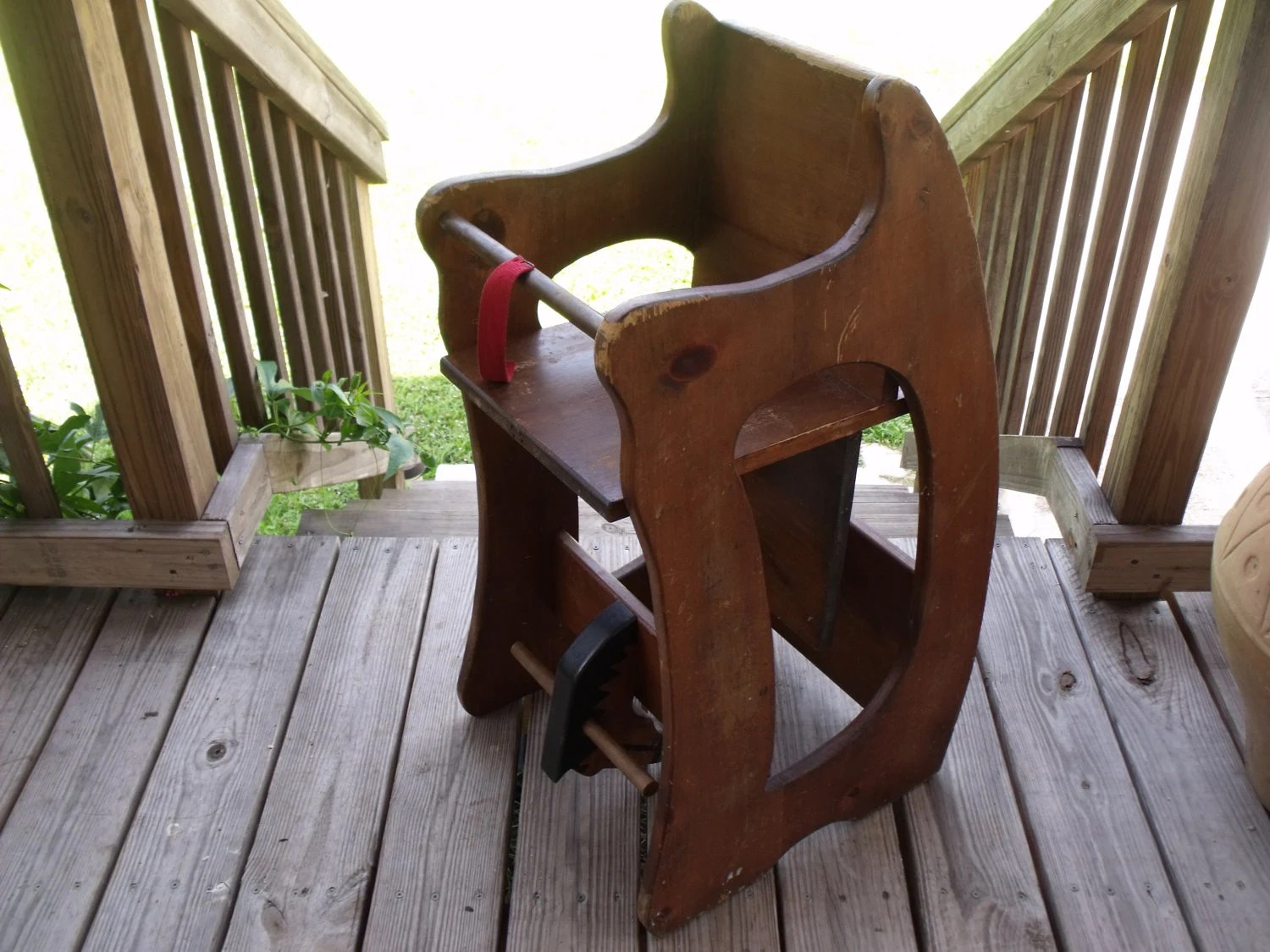 horseshoe rocking chair theo a kochs barber parts 3 in 1 horse high desk childs vintage by