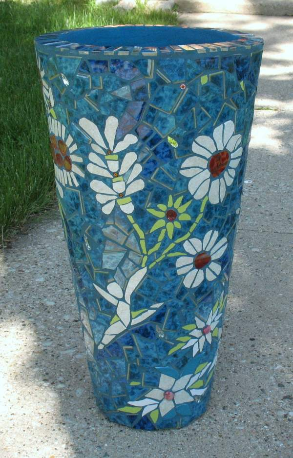 Dancing Flowers Mosaic Flower Pot Mosaicrenaissance