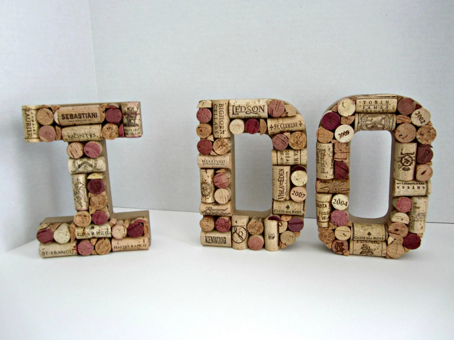 I Do In Wine Cork Letters