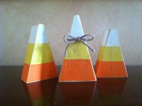 Wood Fall Candy Corn Block set Seasonal Home Decor for fall