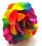 2x huge rainbow roses artificial