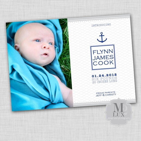 nautical baby announcement
