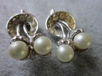 50's Rhinestone & Twin Pearl Ugly Earrings Must by ...