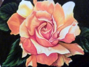 pencil rose drawing colored painting yellow dessin couleur crayon oval frame drawingfusion 儲存