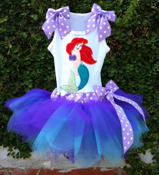Items Similar To Ariel The Little Mermaid Tutu Dress On Etsy