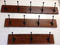 Items similar to Custom Mission Quartersawn Oak Coat Rack ...