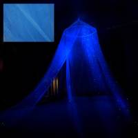Glow in the Dark Stella Star Canopy Blue surround your bed