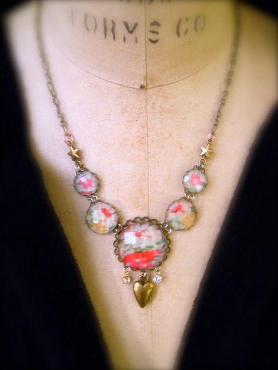 Items Similar To Shabby Chic Vintage Handkerchief Jewelry