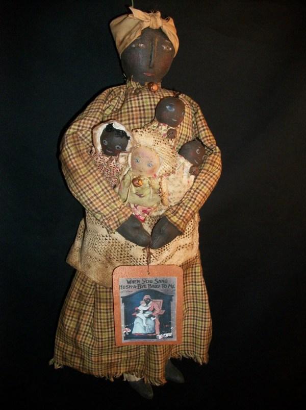 Primitive Folk Art Black Mammy Doll Pattern