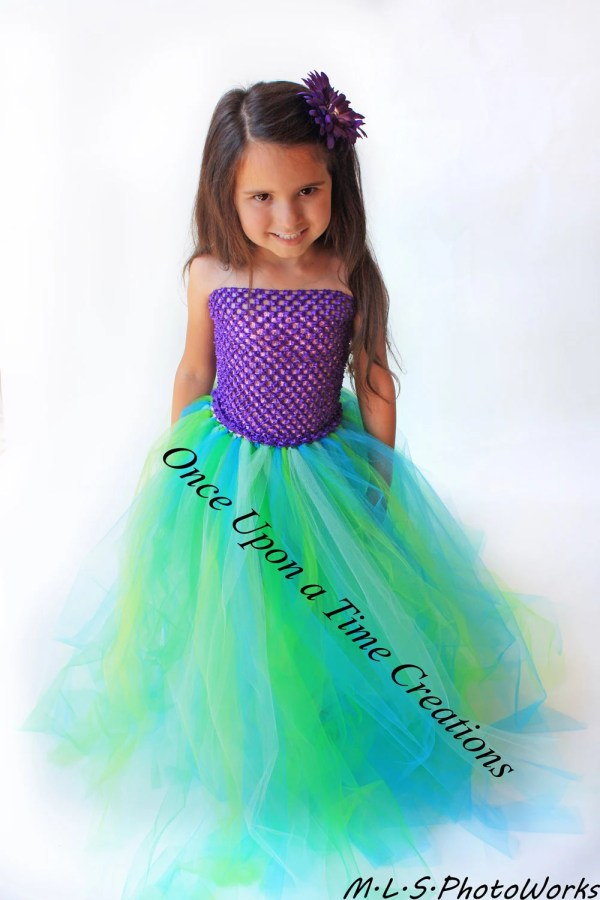 Mermaid Tutu Dress Kids Birthday Outfit Halloween Costume