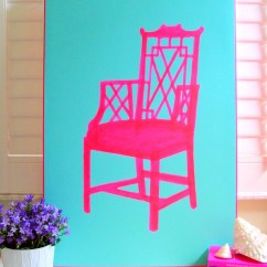 Neon Pink Chair Fabric Recliner Chairs 20 X 30 Original Painting By Annechovie On