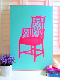 NEON PINK CHAIR 20 x 30 Original Painting by annechovie on ...