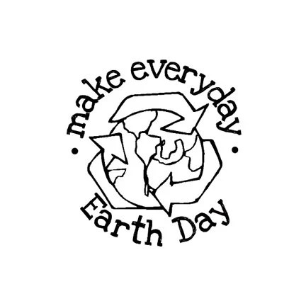 CLEARANCE Make everyday Earth Day Rubber Stamp by terbearco