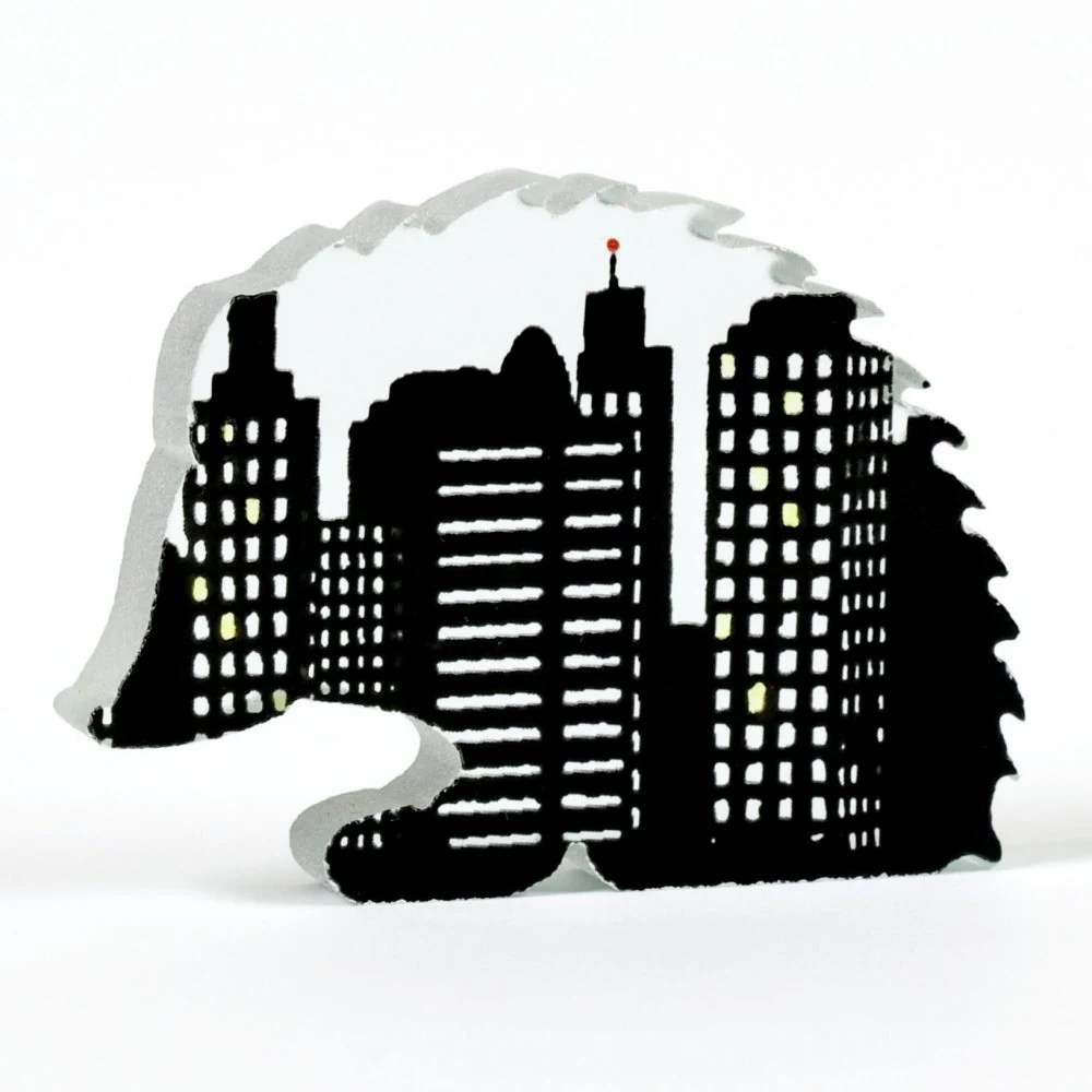 Urban Hedgehog Glass Sculpture