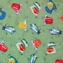 Kitchen Aid Mixer Reviews Remodeling Birmingham Mi Retro 1950's Style Printed Appliances Fabric