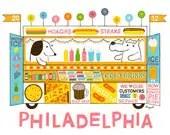 5 Color Screenprint : Philadelphia Food Truck - doctorpizzoli