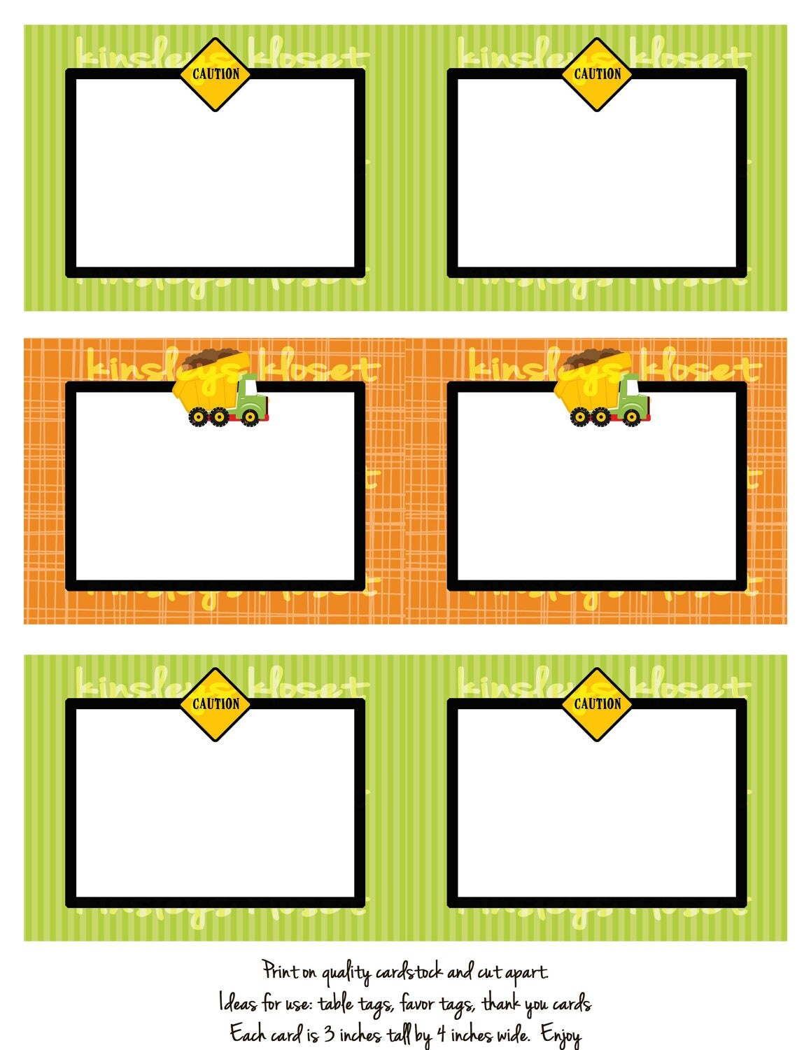 Printable Party Favor Tags Labels Food Table Labels